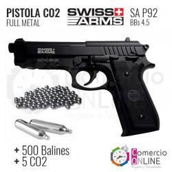 Pistola CO2 Full metal...