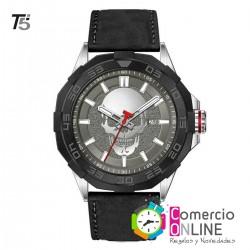 Reloj T5 calavera cuero 04