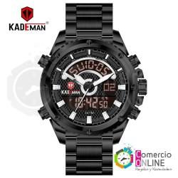 Reloj Kademan digital metal...